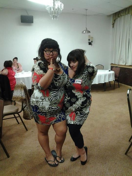 That time when Virgie Tovar and I wore the same dress at NOLOSE.