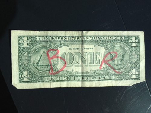 vonzoob:  Found this in my wallet while I was at the vending machine recently…and I couldn't help but laugh out loud. ;)