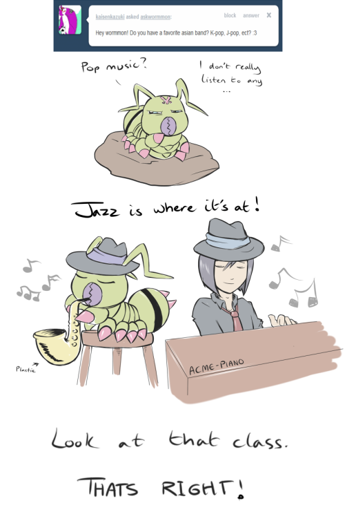 askwormmon:  All the Chosen children have very varied taste in music! But no pop here sorry. :(