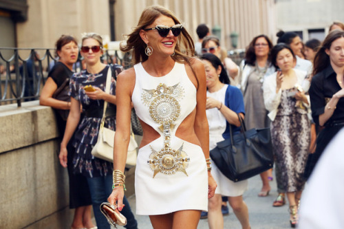 what-do-i-wear:  Anna Dello Russo at NEW YORK FASHION WEEK (image: grazia.it)