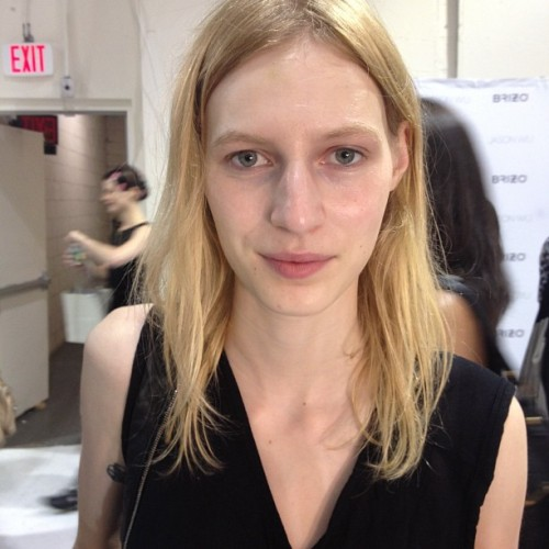 #NoFilter Flawless Julia Nobis backstage at @JasonWu (Instagram: @jasonwustudio) (Taken with Instagram)
