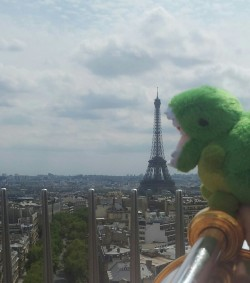 Key Rex! You can't eat the Eiffel Tower. Well not in one bite anyway.