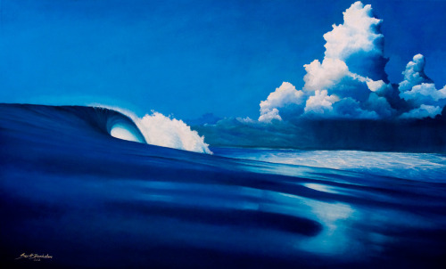 "Here's my latest eco surf art painting of HT's in the Mentawi Islands. I've called it ""Anticipation"", huge thanks to Clarkography for the amazing photo and inspiration!Let me know what you think? It's for sale on my website. Prints will be available in the next few weeks. http://www.scottdenholm.com/"