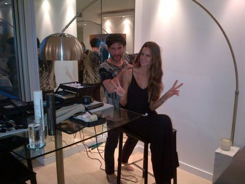 Izabel Goulart getting ready for Carine Roitfeld 's party  @aleygreenblo on instagram http://tickledpink.alphie-eve.com http://aleygreenblo.tumblr.com