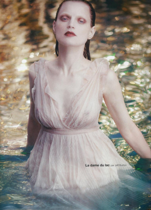 Guinevere van Seenus by Jeff Burton for Numéro #114 (June/July 2010)
