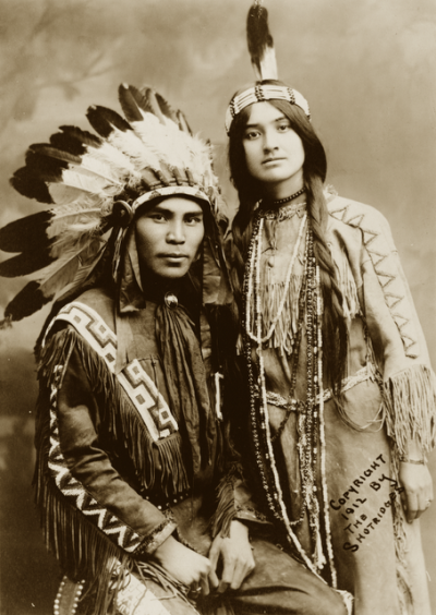 Native North American couple, Situwuka and Katkwachsnea 1912
