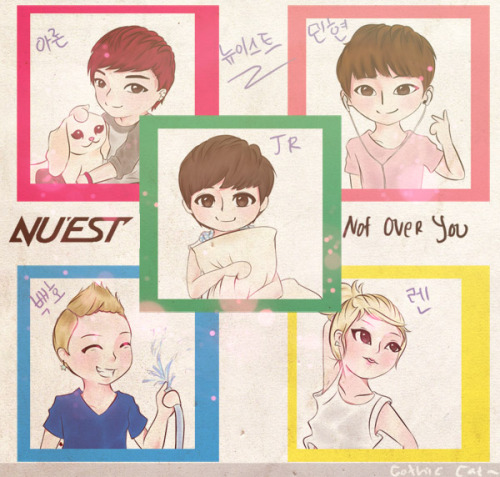 gotikuneko:  my first nu'est fan art XD