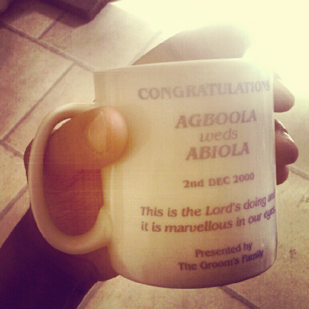 If you are #African .. you will #understand this … not even 1 of my #mug #collection has been bought .. always get a free 1 @ every #wedding #jokes … the #royalty mug collection .. I can form a timeline from my mug collection Lool #Nigerian #lifestyle #Epic #HotChocolate easy like a #SundayMorning :)  (Taken with Instagram)