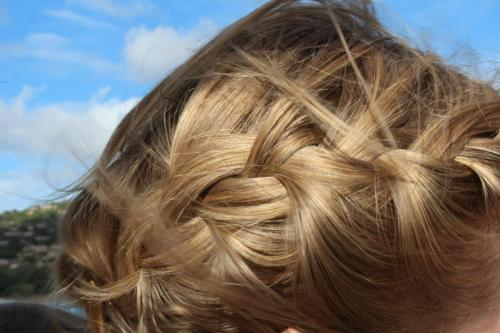 More beautiful looking braided hair, so golden in the sunshine.  So nice!  :)  Would you please submit to our new user-share hair photo gallery?  We would be so happy, thanks so much!