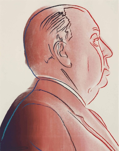 Alfred Hitchcock (silkscreen inks on paper, 1983) – Andy Warhol (American, 1928–87)