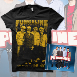 You can now pre-order the new Punchline SO NICE TO EAT YOU Halloween t-shirt! These shirts are available for a limited time only (pre-order ends on September 30th). Shirts are available in 4 different color combos, and they're all printed on American Apparel. Special bundle includes a copy of So Nice To Meet You!