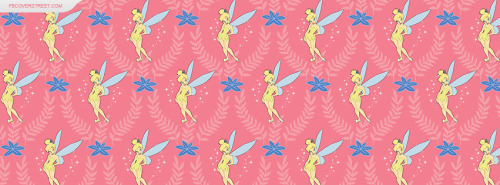 Tinkerbell Pattern Facebook Cover