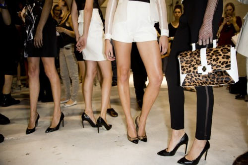 glamour:  A snap from Jason Wu's hella-sexy spring show. Photo: Mark Leibowitz