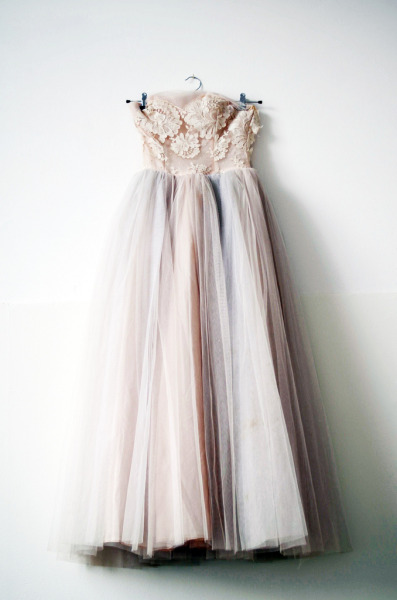 rosettes:  My wedding dress? ♡