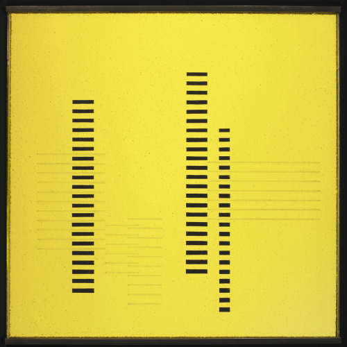 text-mode:  'Skyscrapers on Transparent Yellow', ca. 1929 by Josef Albers.