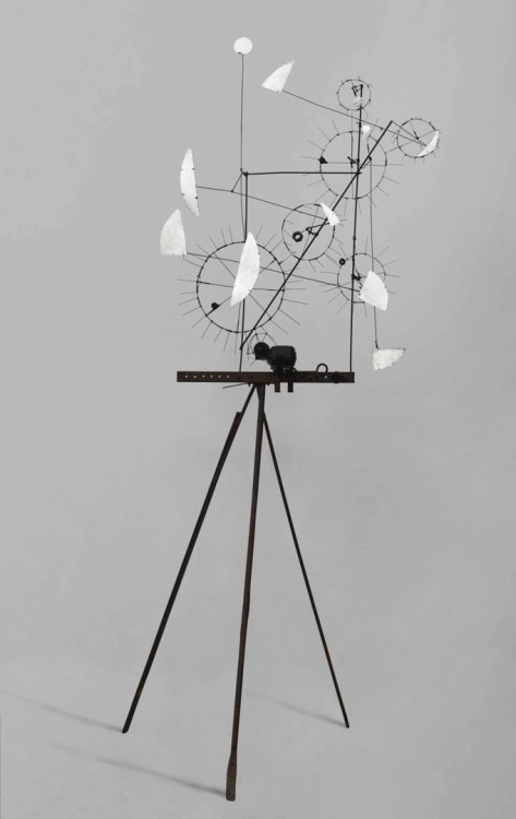"artlistpro:   ""Metamechanical Sculpture With Tripod"", 1954  By: JEAN TINGUELY….  via ronulicny:"