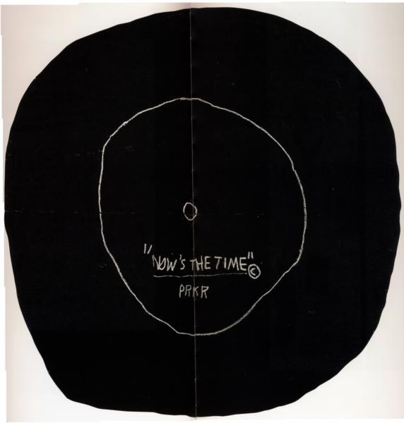 Jean-Michel Basquiat (1960-1988) Now's The Time, 1985. Pencil on wood. The Brant Foundation Art Study Center, Greenwich.