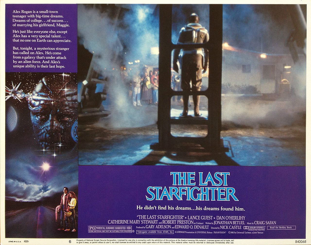 The Last Starfighter, US lobby card. 1984