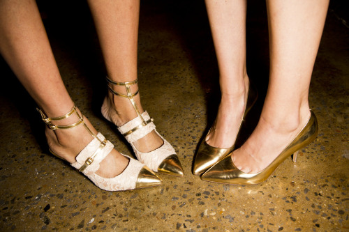 Peter Som spring 2013 shoes. The lust list starts here. Photo: Mark Leibowitz