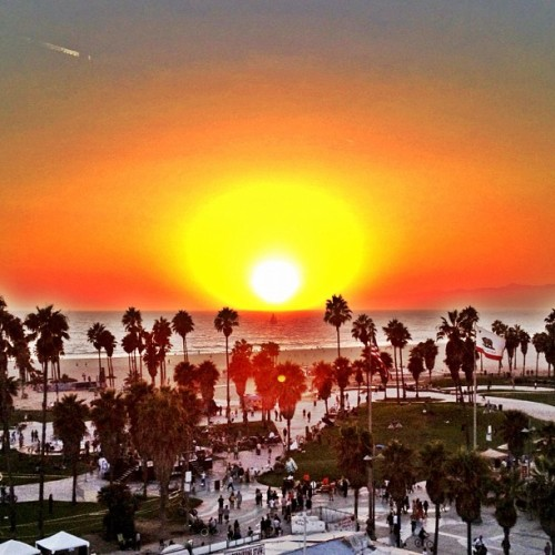 Last night's #sunset  (Taken with Instagram at Hotel Erwin)