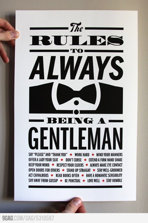 To those who wants to be a gentleman.
