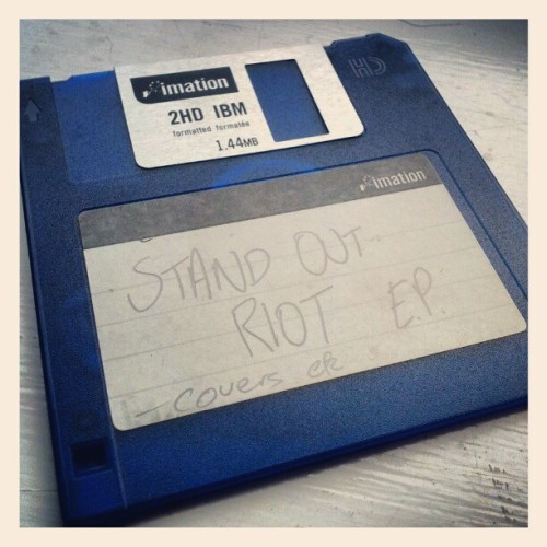 Circa ~2003 when we used to deal with 3 1/2 floppies.  (Taken with Instagram)