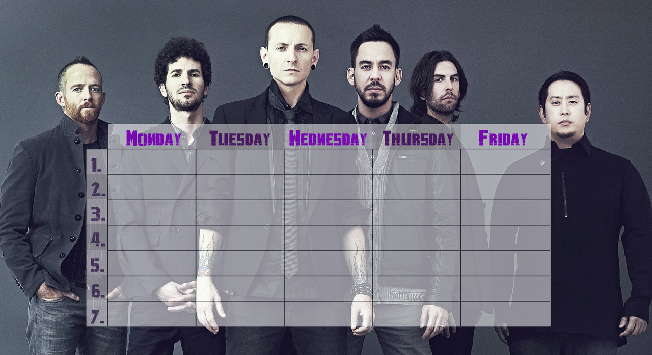 Linkin Park timetable. Requested by anon. (I hope you like it(:)