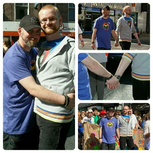 David & I at #limerickpride yesterday.