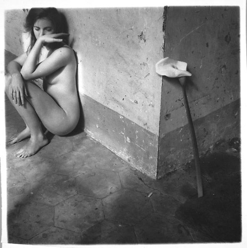 descroissants:  francesca woodman, self portrait nudity before someone used it for exploitation, was a sign of tenderness and absolute surrender. it was romantic and brutal.