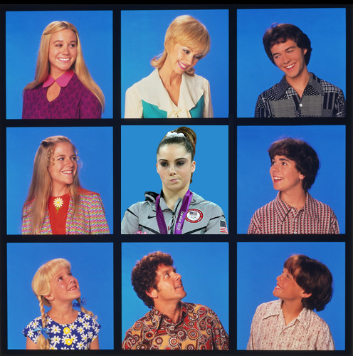 mckaylaisnotimpressed:  McKayla is NOT impressed with the new Brady Bunch.   IM NOT IMPRESSED EITHER!!!