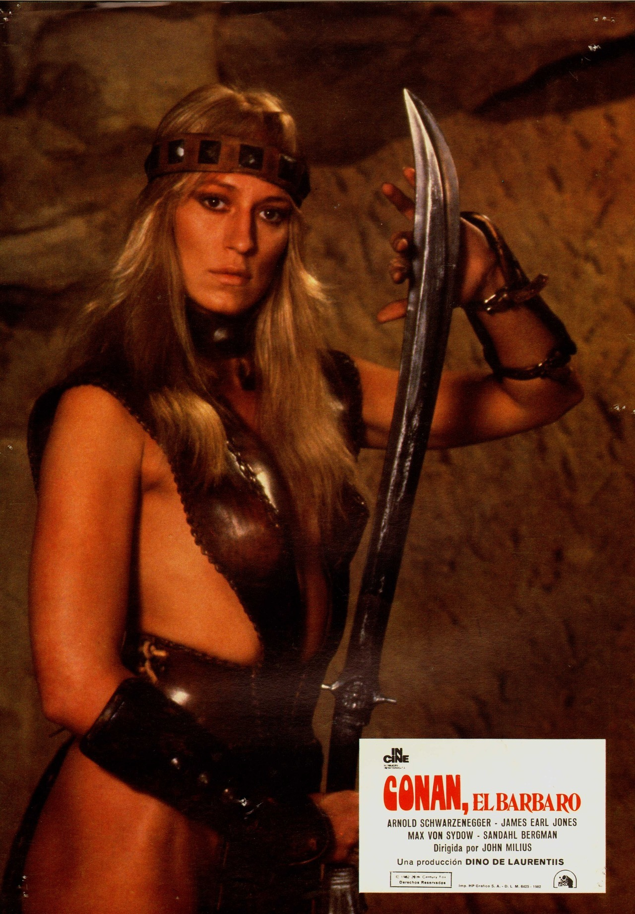 Conan the Barbarian, Spanish lobby card. 1982