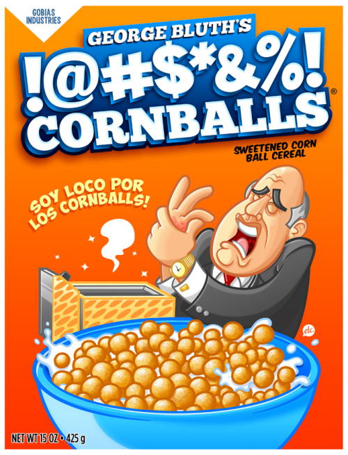 jonnyetc:  George Bluth's !@#$%&*! Cornballs Cereal by Jon Defreest Facebook • Twitter