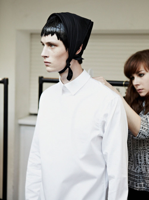 rafcrymons:  JW Anderson S/S13 Backstage ph: Unknown