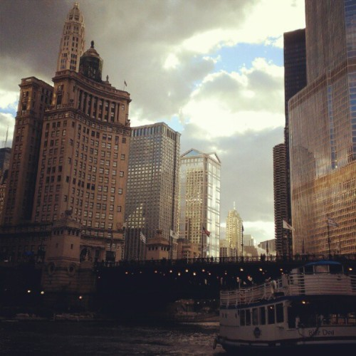 Water Taxi. Chicago you are beautiful! (Taken with Instagram)