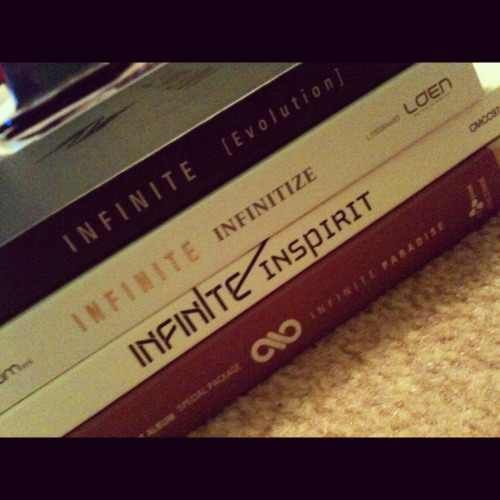 All my infinite albums<3 More to come :D