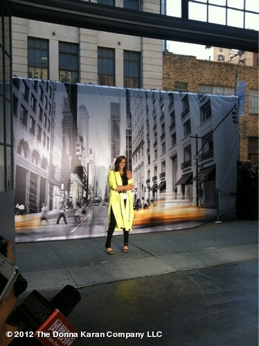 Donna strikes a pose!  dknyprgirl:  Donna!!! #DKNYShow View more DKNY PR GIRL on WhoSay