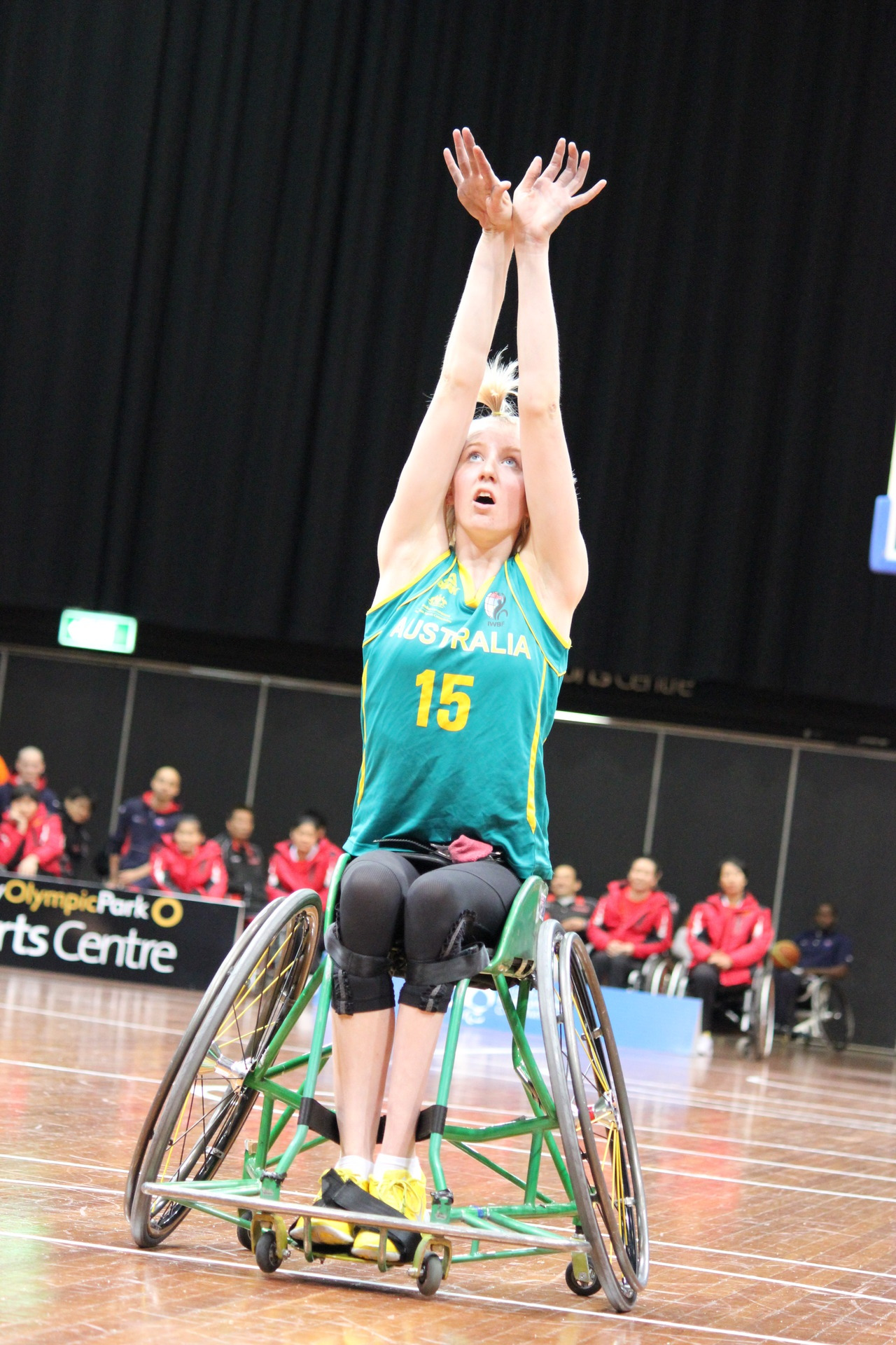 mr-craig:  Amber Merritt of the Australian women's wheelchair basketball team. One of my favourite players from my favourite team of the Paralympics.