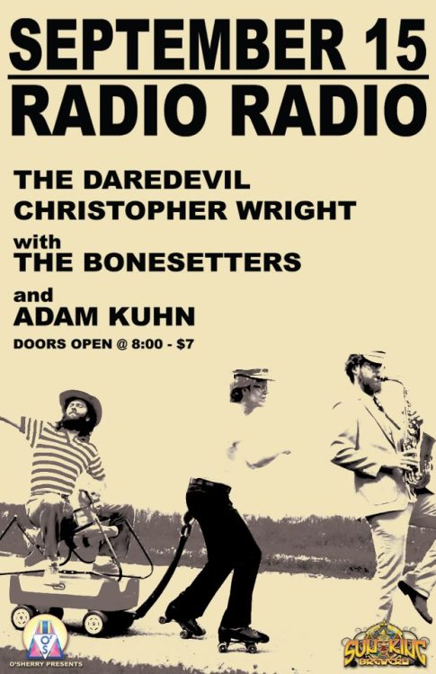 Next Saturday at RADIO RADIO! Brought to you by O'Sherry Presents and Sun King Brewery!