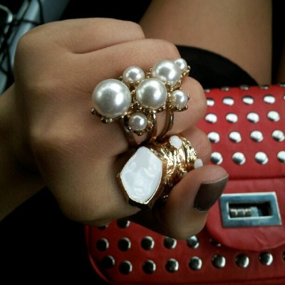I love chunky rings. #jewelry #nofilterneededbiotch (Taken with Instagram)