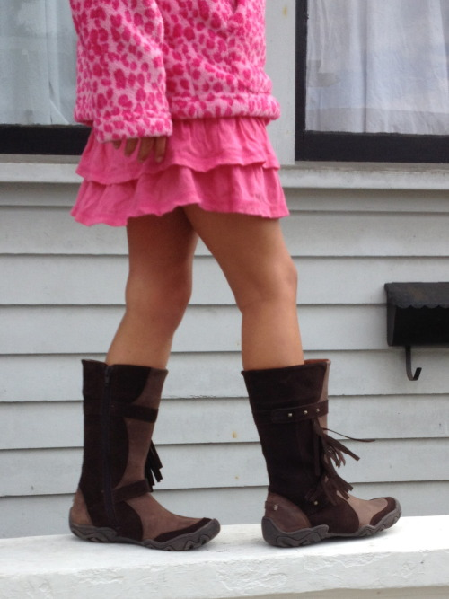 These boots were made for walkin', jumpin', runnin' and skippin'! (The Kayla Boot by Umi $75)
