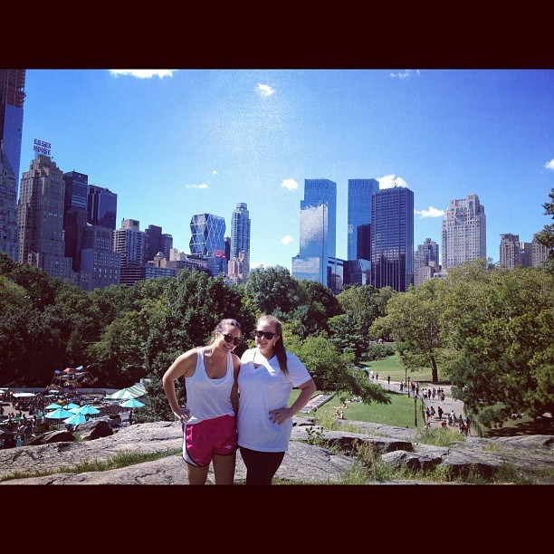 Is this real? Amazing last day in central park w my bestie @mberggg  (Taken with Instagram)