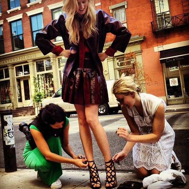 Workin' hard for a livin'! @bridgetfleming @amyedits #nyfw  (Taken with Instagram at SoHo Grand Hotel)