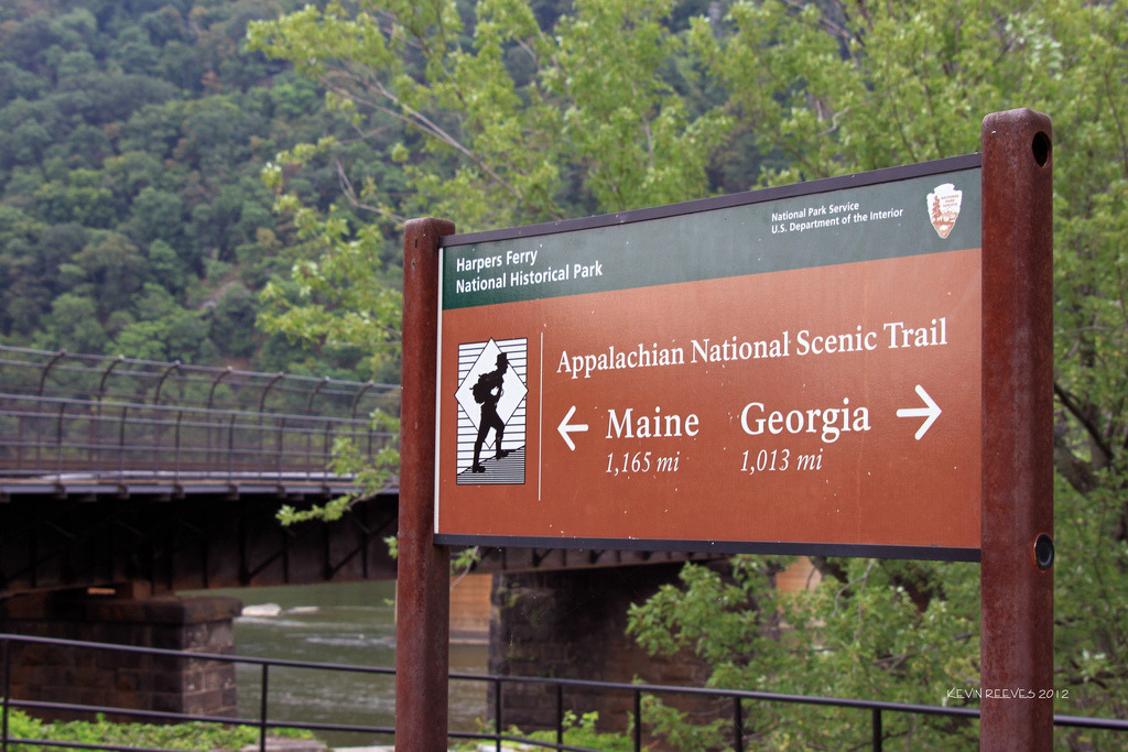 Appalachian Trail at Harpers Ferry (by Kevin Reeves)