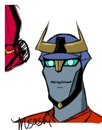 I made a Transformers animated fan character. Orion Minor. He is the baby of Optimus and Prowl and ahhhhhhhgoddddd someone kill me. I miss when I drew nothing but Korra T_T.