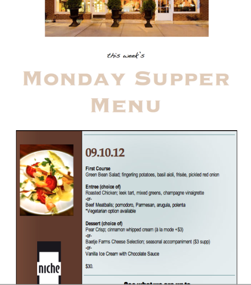 This Week's Monday Supper Menu….. September 10th 2012 (sorry so late!)