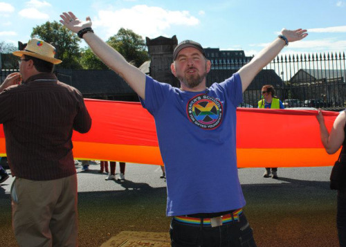 YAY LIMERICK PRIDE!!!!(Yes that is an X-men gay pride t-shirt!)