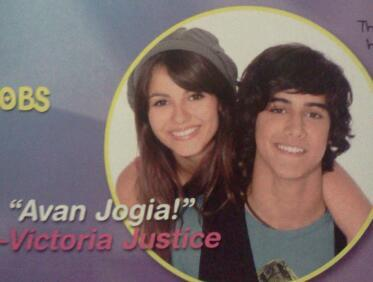 suckystarsprinkle:  the cutest crushes 2008 list Victoria Justice's crush is Avan Jogia
