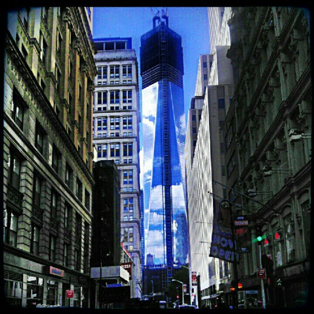 Freedom tower #tweegram #instagood #photooftheday #iphonesia #instamood #igers #instagramhub #picoftheday #instadaily #bestoftheday #igdaily #instagramers #webstagram #all_shots #statigram #nyc    (Taken with Instagram at 121 Fulton Street)