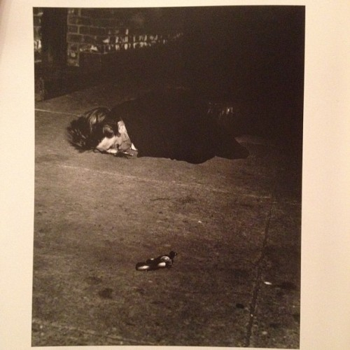 """Murder In Hell's Kitchen"", Weegee,1940 #photographybook #murder #gun #blood #victim (Taken with Instagram)"