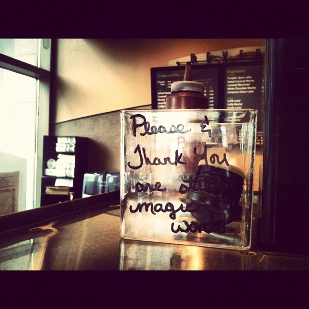 Mind your manners. #starbucks #thelittlethings (Taken with Instagram)